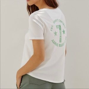 Anthropologie Rugby Club Graphic Tee S